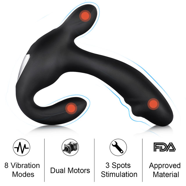 PALOQUETH 3 in 1 Prostate Stimulator with 2 Motors